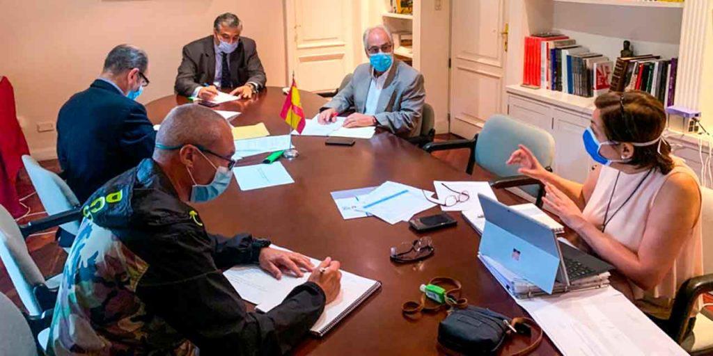 Reunión del Consejo de Administración de la Fundación España Salud del pasado 21 de julio.