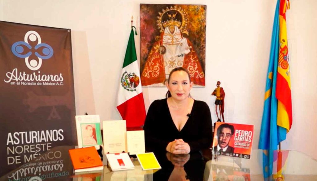 Umbelina Gonzalez durante el homenaje.