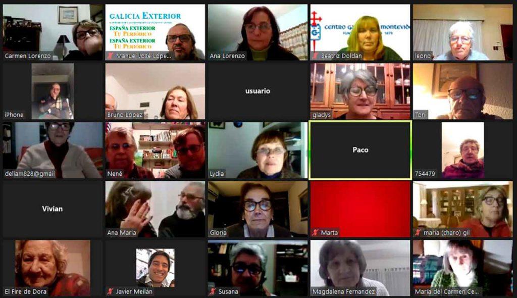 Participantes en la conmemoración realizada por videoconferencia.