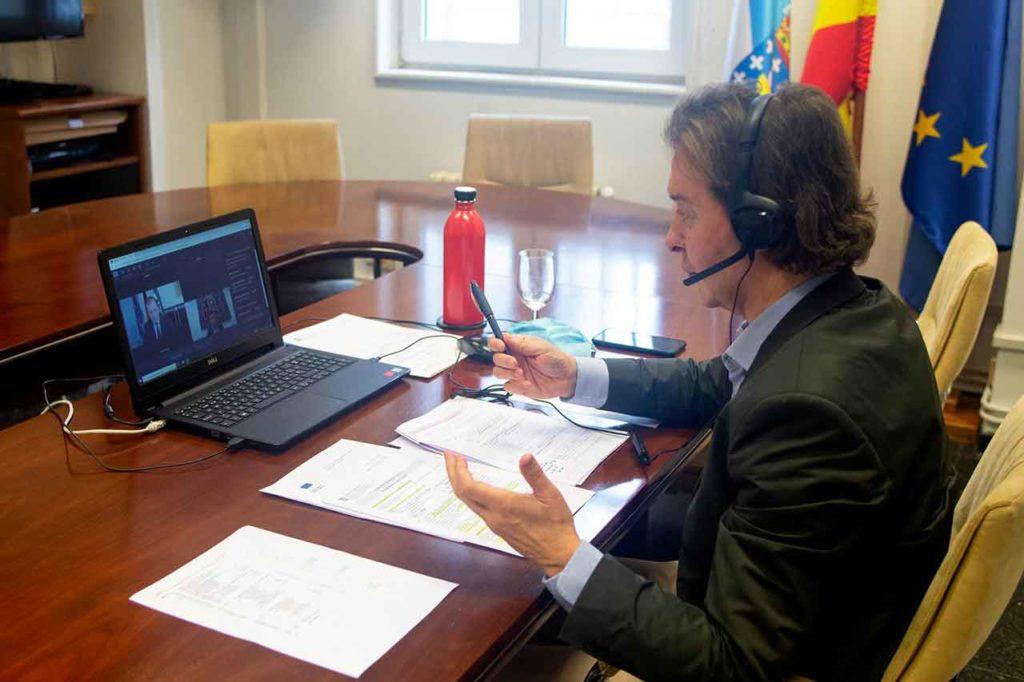 El director xeral de Relacións Exteriores e coa UE, Jesús Gamallo, en la reunión virtual de la comisión Civex del Comité Europeo de las Regiones.