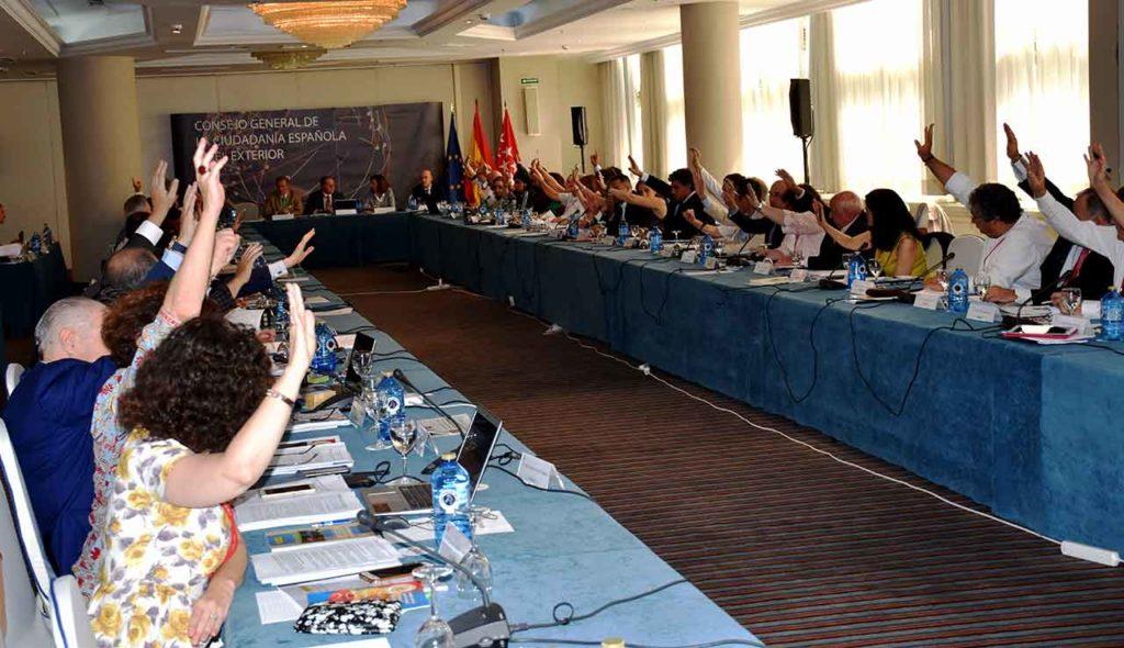 Imagen de la última reunión del pleno del CGCEE celebrada en junio de 2018.