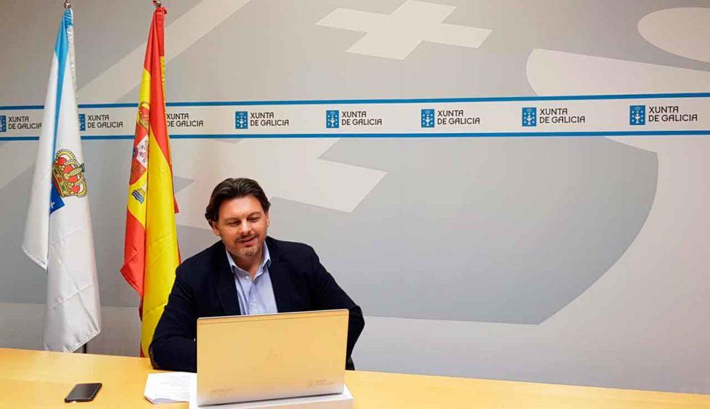 Encuentro telemático con los representantes de los centros gallegos en Alemania.