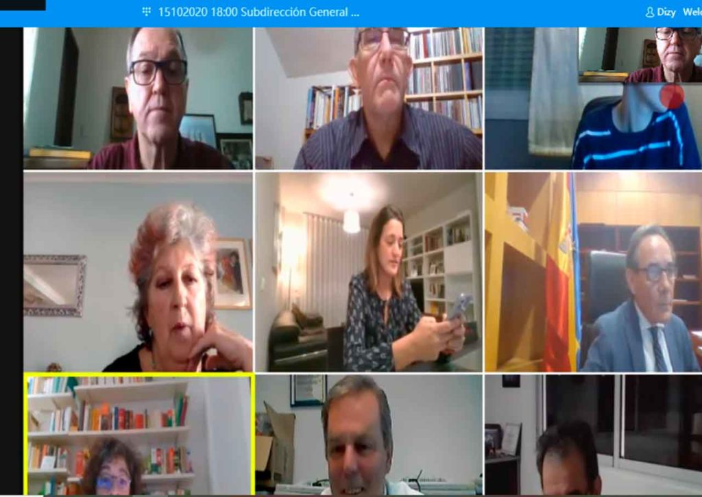 Un momento de la reunión telemática de la Comisión Permanente del CGCEE.