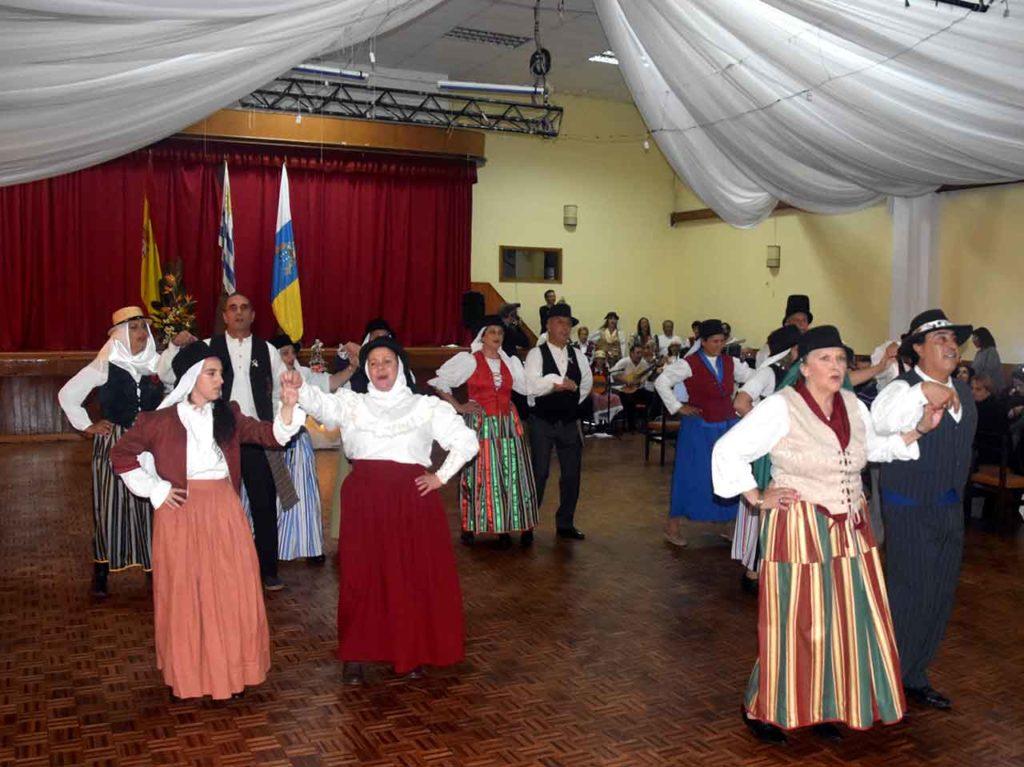 Imagen de archivo de la celebración del Día de Canarias en Uruguay.