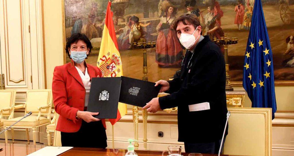 Isabel Celaá y Luis García Montero.