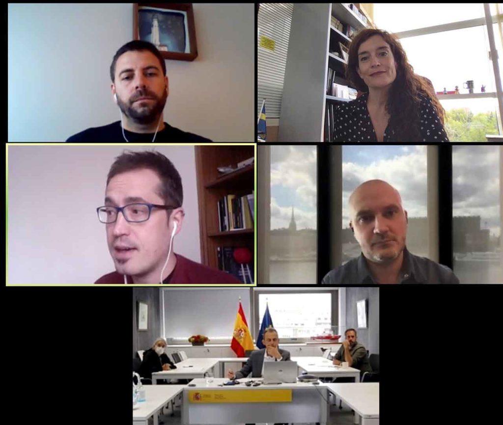 Encuentro por videoconferencia del ministro Pedro Duque con los representantes de Raicex.
