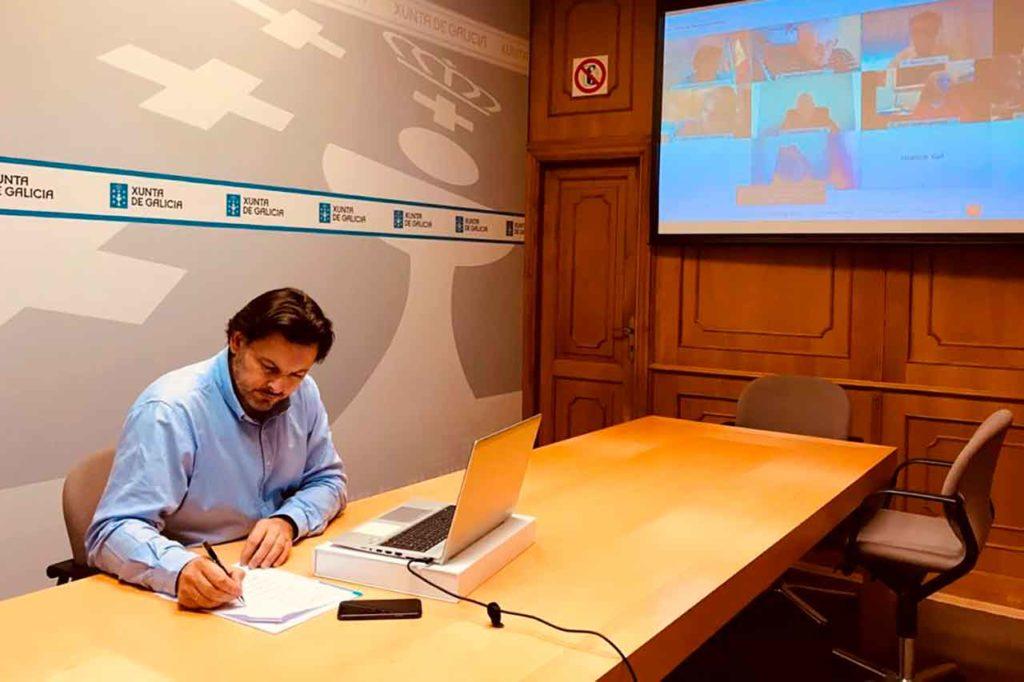 Miranda y López Dobarro mantuvieron una reunión de trabajo con los y las representantes de entidades gallegas en Argentina.