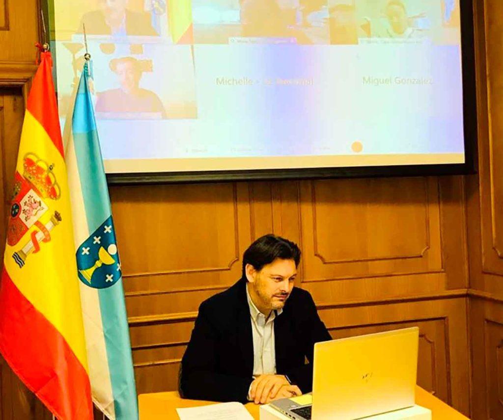 Rodríguez Miranda en el encuentro con la colectividad gallega en EE.UU. y México.