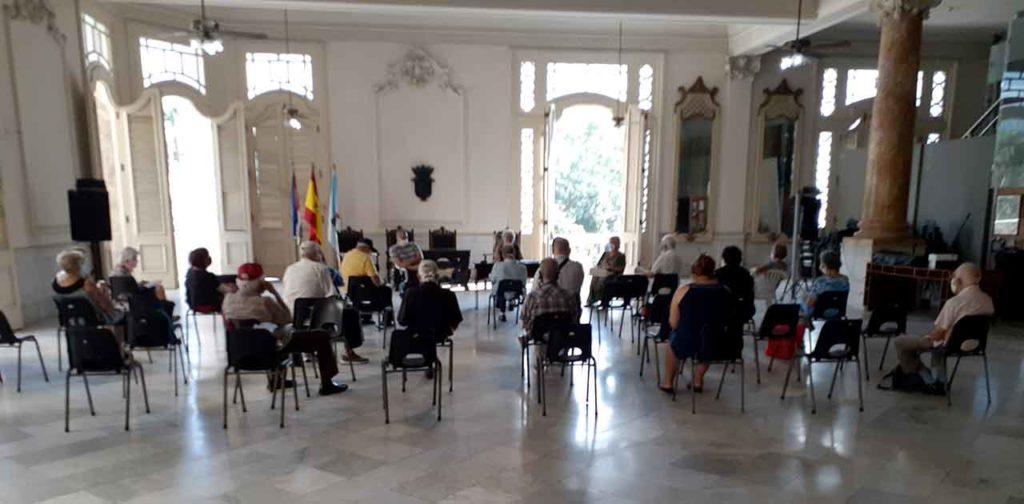 Un momento de la Junta General de la Agrupación de Sociedades gallegas.