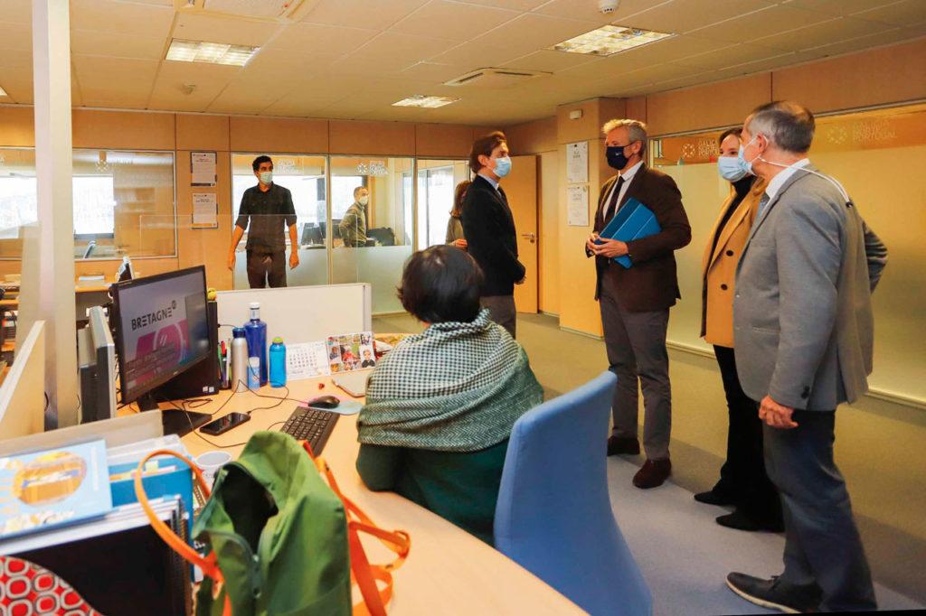 El vicepresidente primero, Alfonso Rueda, visitó la sede de la Agrupación Europea de Cooperación Territorial Galicia-Norte de Portugal.