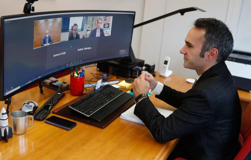 El director del Igape, Fernando Guldrís, durante su participación en la apertura del X Foro Empresarial España-Estados Unidos.