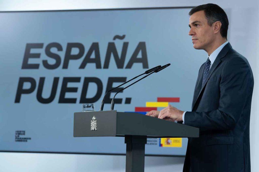 El presidente del Gobierno, Pedro Sánchez, durante su comparecencia del pasado 25 de octubre.