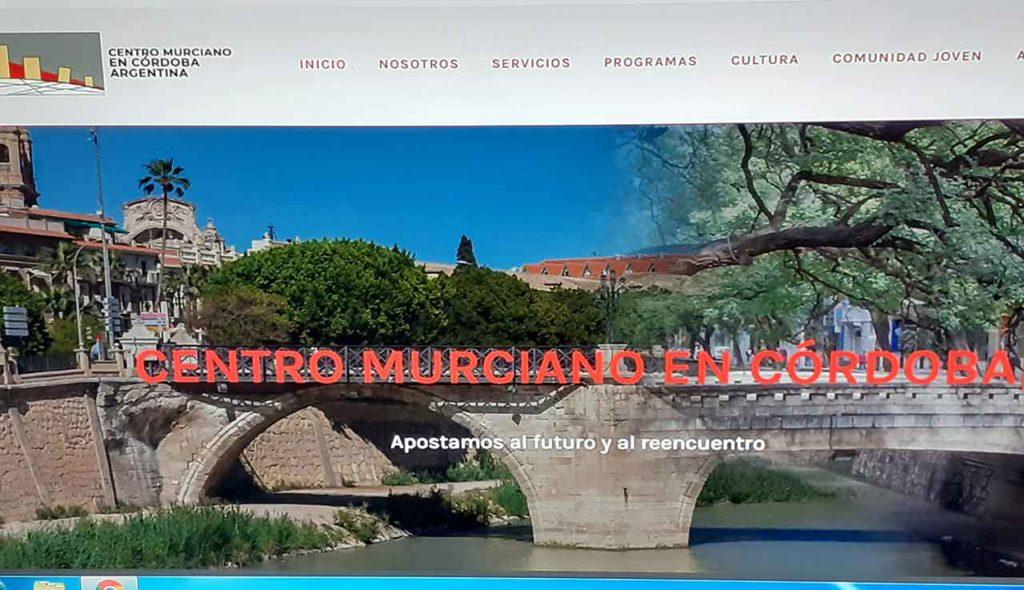 Página web del Centro Murciano de Córdoba.