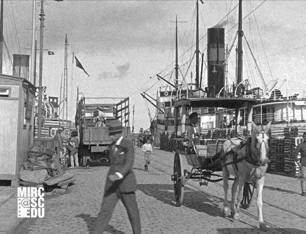 Imagen del Puerto de Las Palmas que se incluye en la proyección