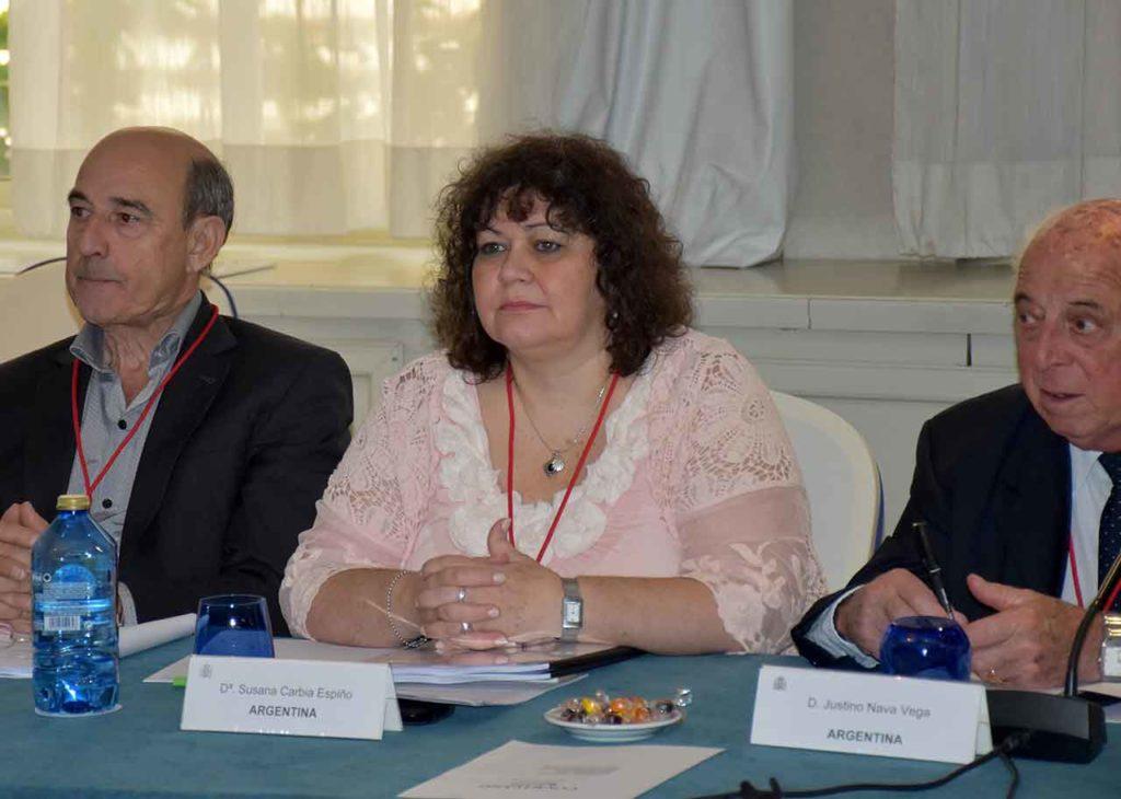 Susana Carbia en la última reunión del CGCEE celebrada en junio de 2018.