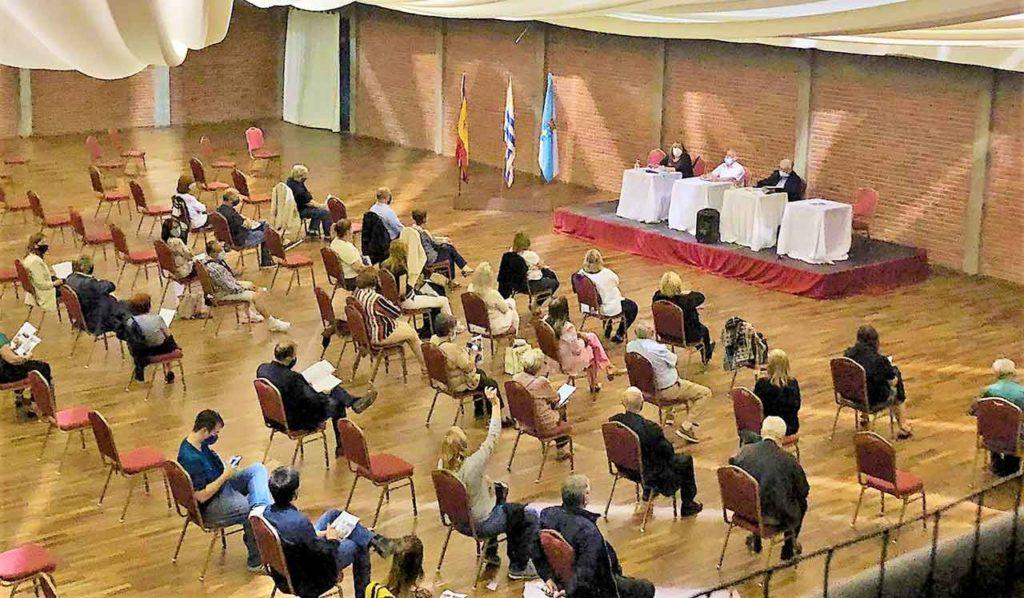 Un momento de la asamblea de socios.