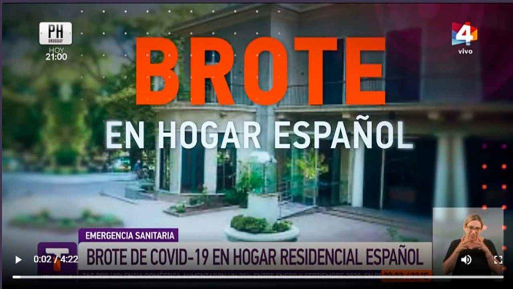 El informativo Telenoche dedicó un espacio a la situación del Hogar Español.