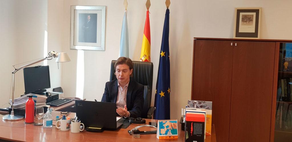 El director xeral de Relacións Exteriores e coa UE, Jesús Gamallo, presidió el acto de clausura de la décima edición del curso de especialización en financiación comunitaria.
