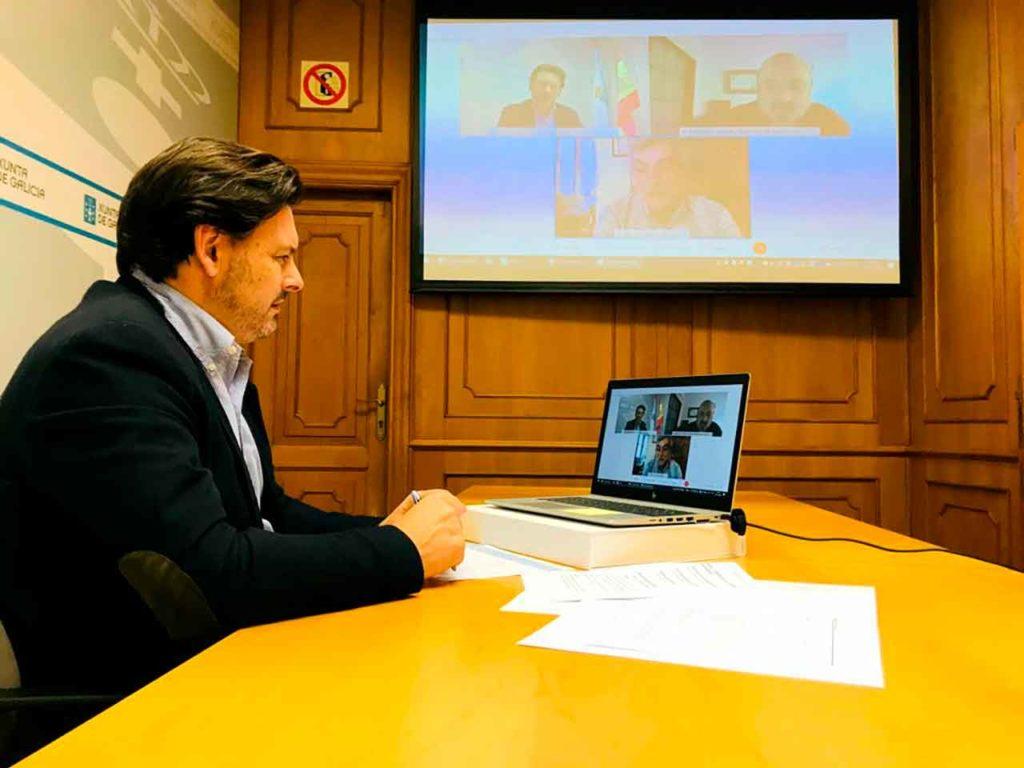 Encuentro telemático con las entidades gallegas en Canarias.