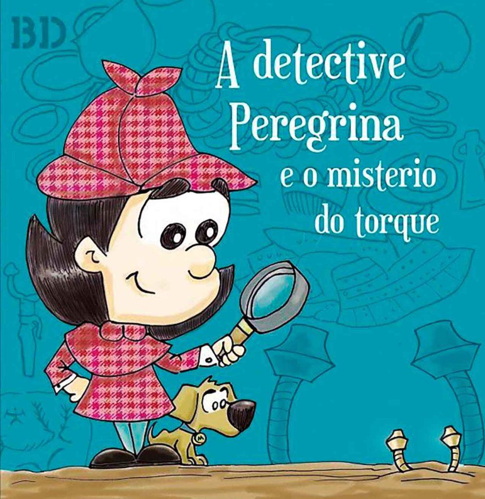 Cartel del cuentacuentos A detective Peregrina e o misterio do torque.