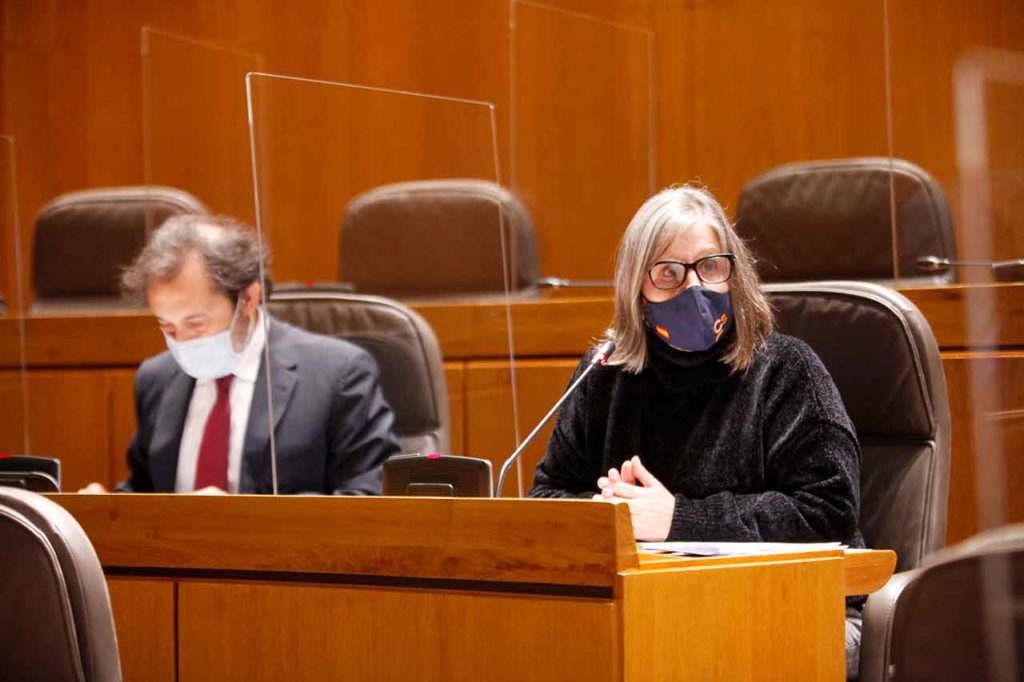 La diputada de Ciudadanos, Beatriz García, defendió la iniciativa en la Comisión Constitucional de las Cortes de Aragón.