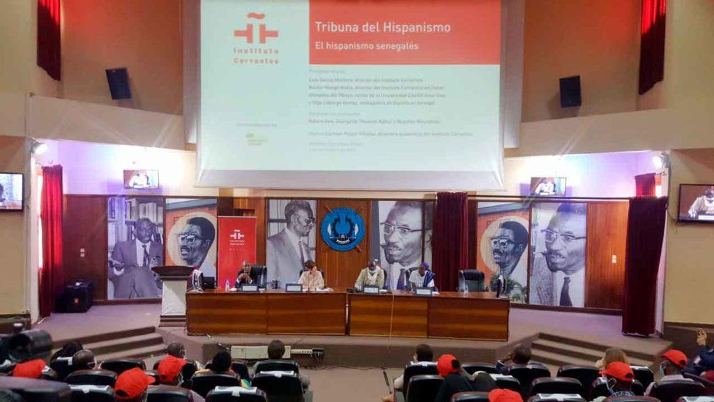 Vista general de la Tribuna del Hispanismo Senegalés celebrada en la Universidad Cheikh Anta Diop de Dakar, en la que se analizó el español en aquel país.