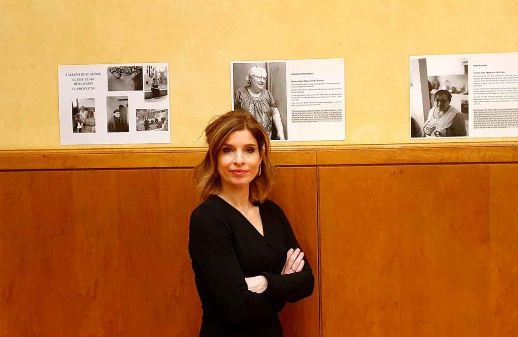Hana Jalloul visitó la exposición.