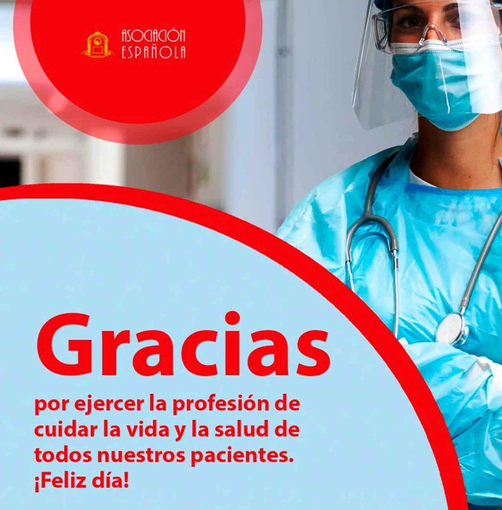 Cartel por el Día del Médico.