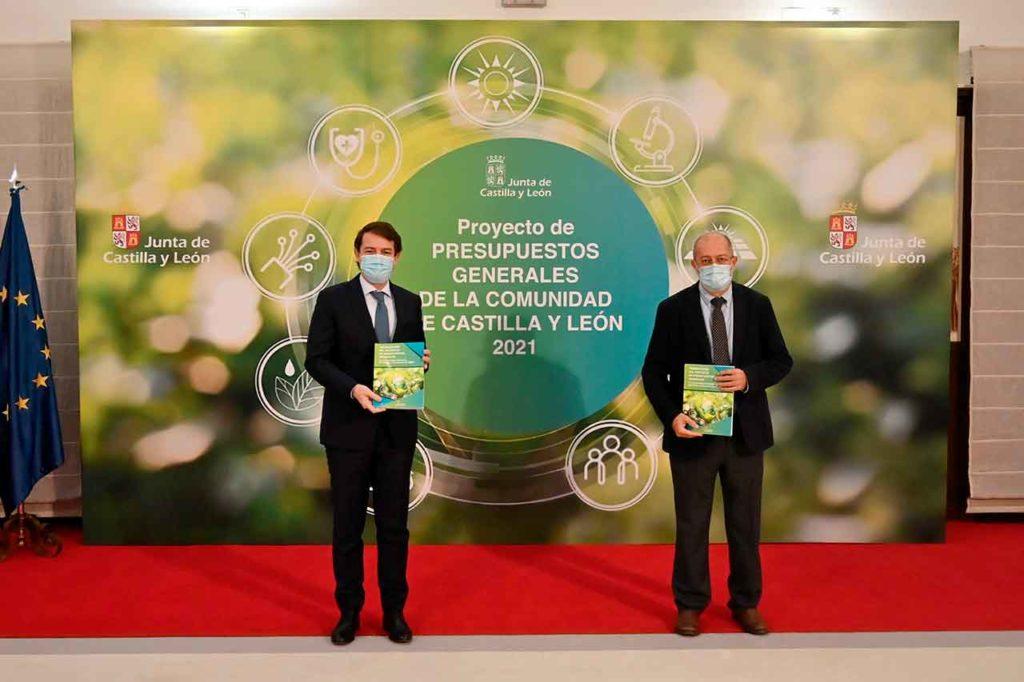 El presidente de la Junta, Alfonso Fernández Mañueco, y el vicepresidente, Francisco Igea, presentaron los presupuestos de la Comunidad el pasado 26 de noviembre.