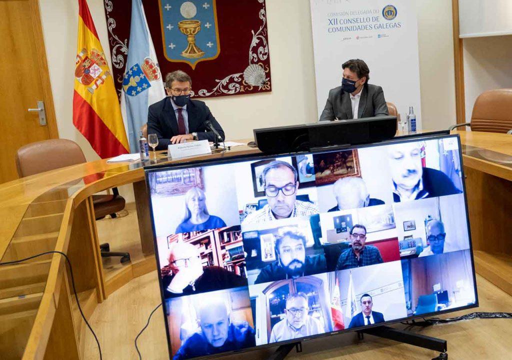Reunión telemática de la Comisión Delegada del Consello de Comunidades Galegas del pasado 21 de diciembre de 2020.