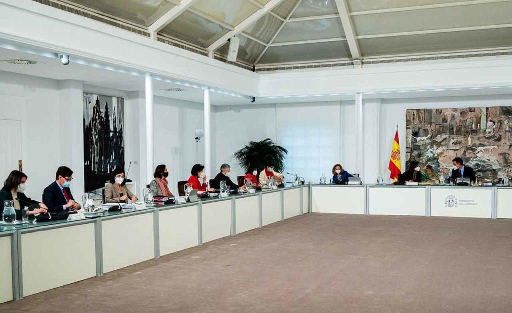 Un momento de la reunión del Consejo de Ministros del martes 26 de enero.