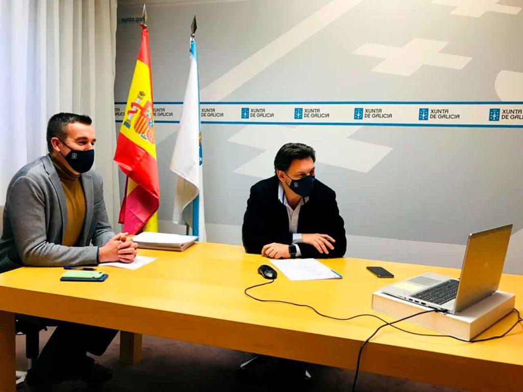 Antonio Casas y Antonio Rodríguez Miranda en la jornada informativa del 27 de enero.