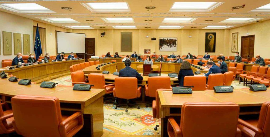 Reunión de la Comisión de Justicia del Congreso de los Diputados.