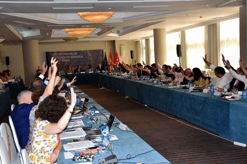 Imagen del último pleno del CGCEE celebrado en junio de 2018.