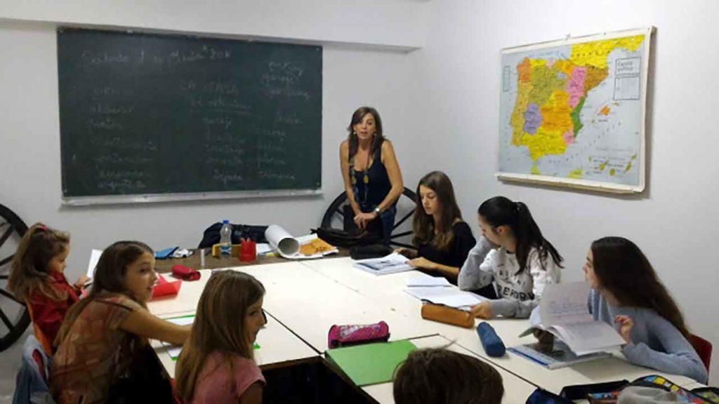 Imagen de archivo de una de las Aulas de Lengua y Cultura Españolas en Francia.