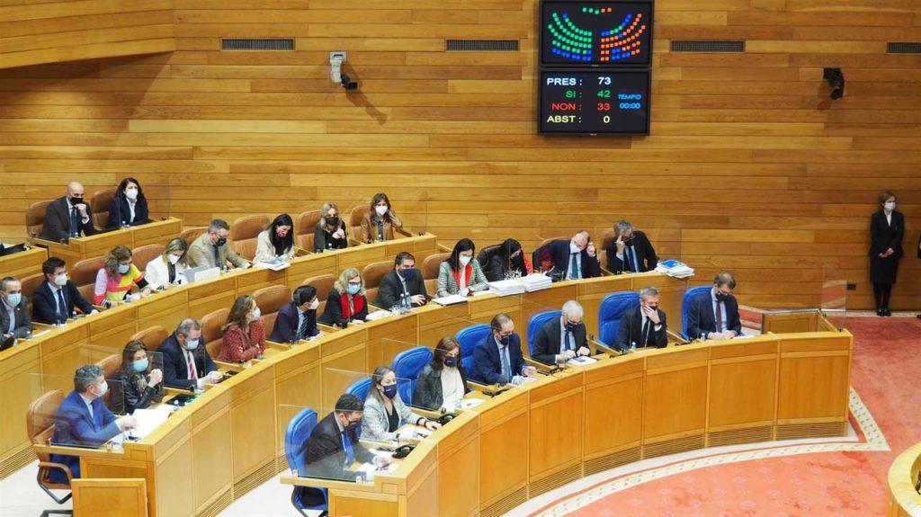 Un momento de la sesión plenaria del Parlamento gallego del pasado día 26.