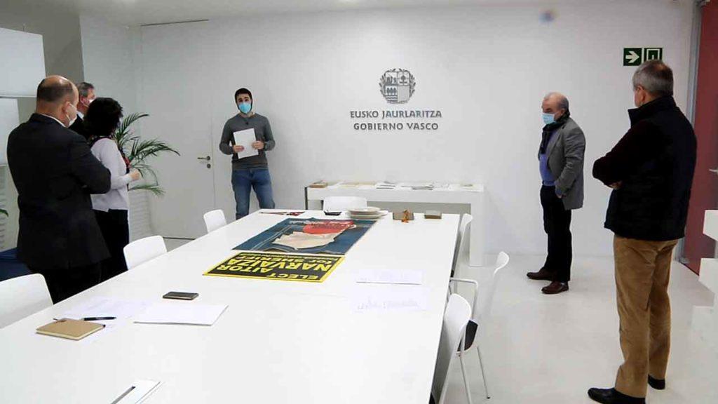 Visita al Archivo de la Diáspora Vasca.