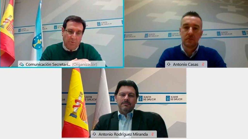 Antonio Rodríguez Miranda presidió las dos videoconferencias con las que esta semana se clausuraron las jornadas formativas.