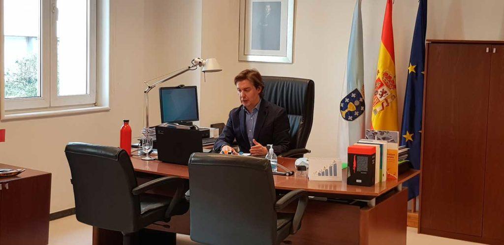 El director xeral de Relacións Exteriores e coa UE, Jesús Gamallo, participó en la segunda reunión del ciclo de encuentros virtuales 'FGE Next Generation Galicia' de la Fundación Galicia Europa.