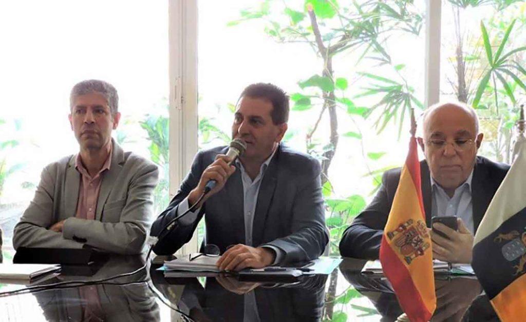 Juan Rafael Zamora en una visita a Venezuela en 2019.