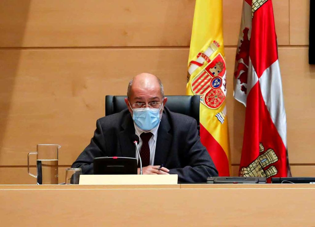 Comparecencia de Francisco Igea en las Cortes de Castilla y León para explicar los presupuestos de la Consejería de Transparencia, Ordenación del Territorio y Acción Exterior.