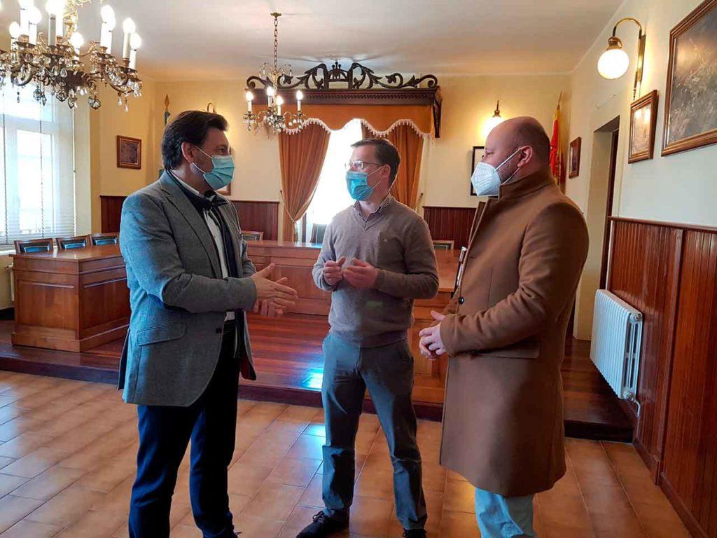 Antonio Rodríguez Miranda, Rafael Pardo y David Carrera.