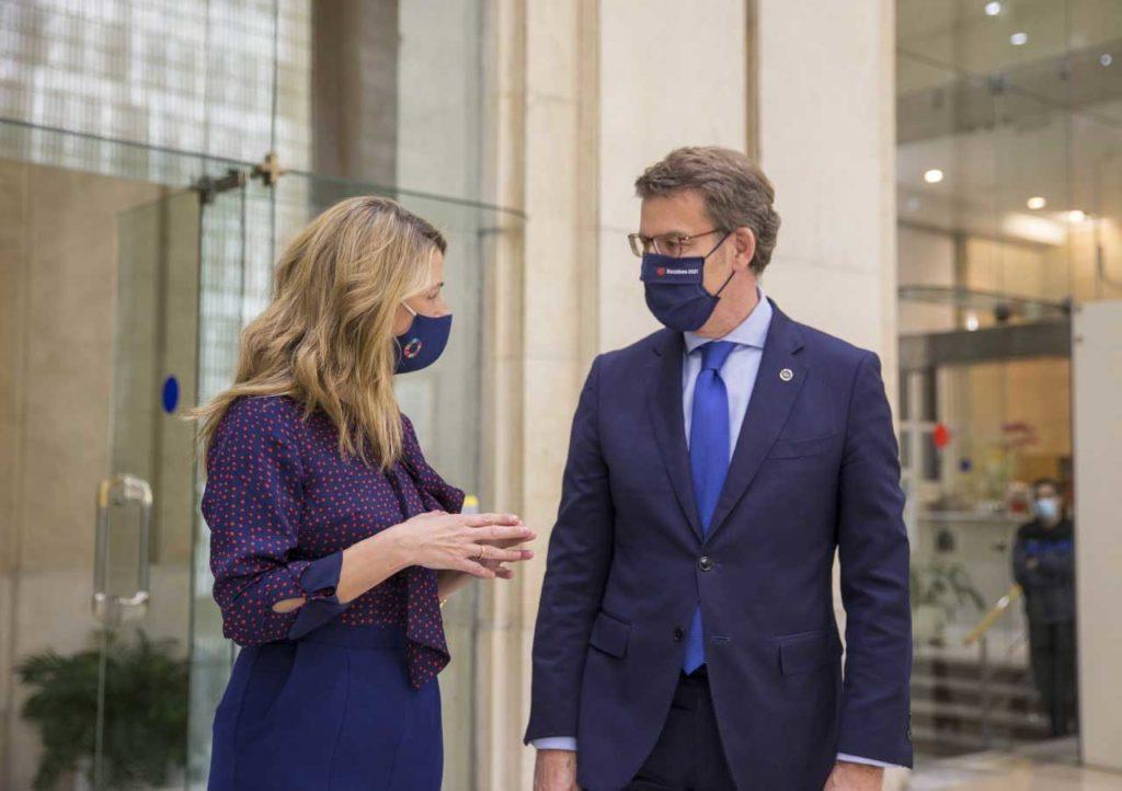 Feijóo se reunió en Madrid con la ministra de Trabajo, Yolanda Díaz.