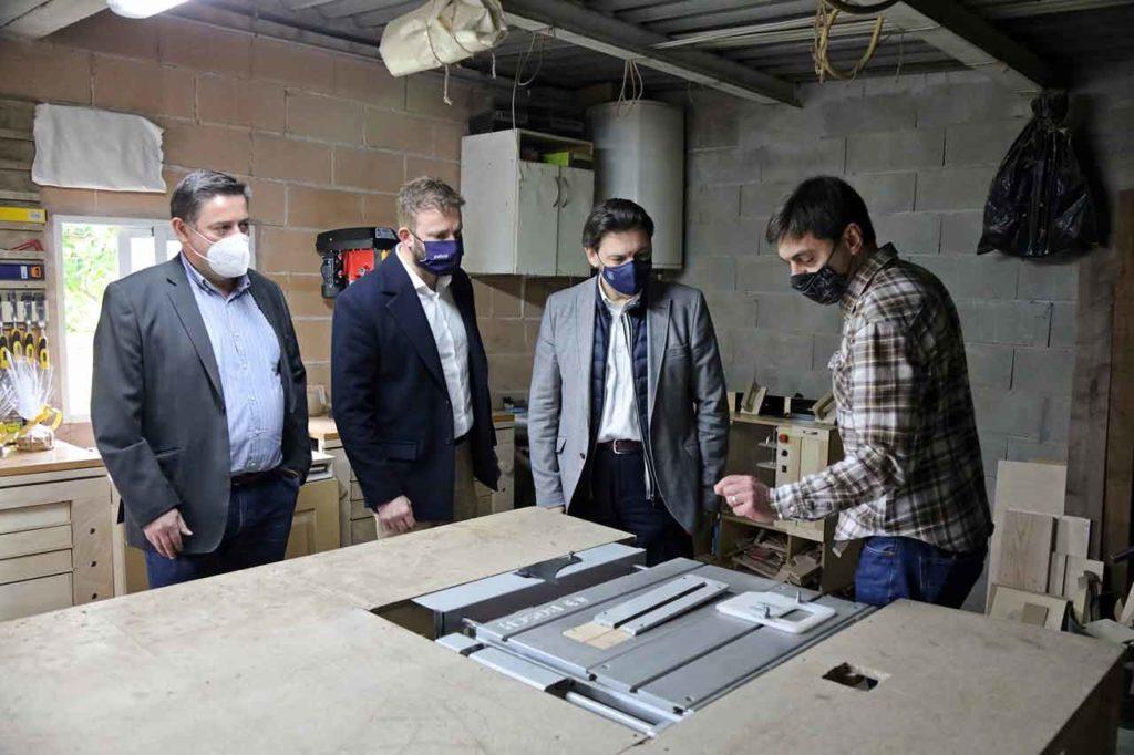 Manuel Fernández Munín, Gonzalo  Trénor, Antonio Rodríguez Miranda y Manuel Sangiao.