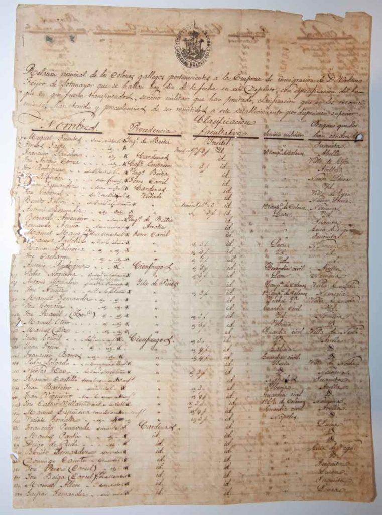 Uno de los documentos.