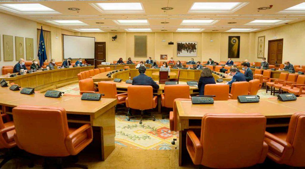Reunión de la Comisión de Justicia del Congreso.