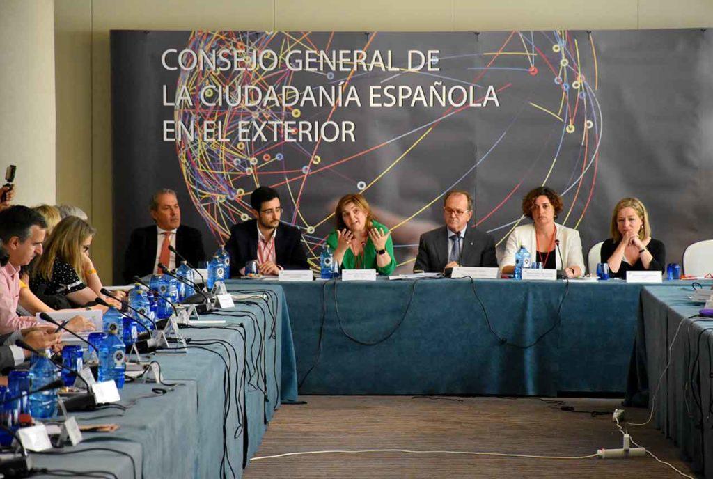 Intervención de representantes políticos en el último pleno del CGCEE celebrado en junio de 2018.