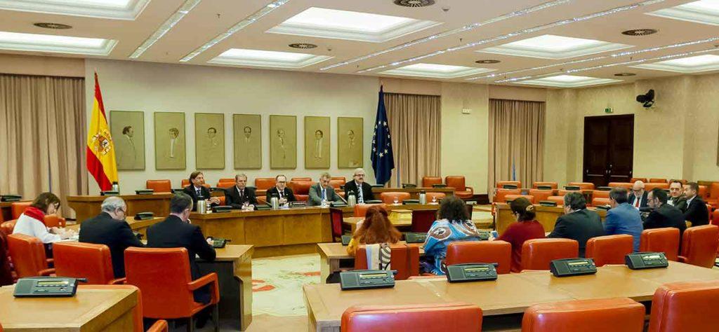 Comparecencia de una representación del CGCEE ante la Subcomisión para la reforma de la Loreg creada en 2018.