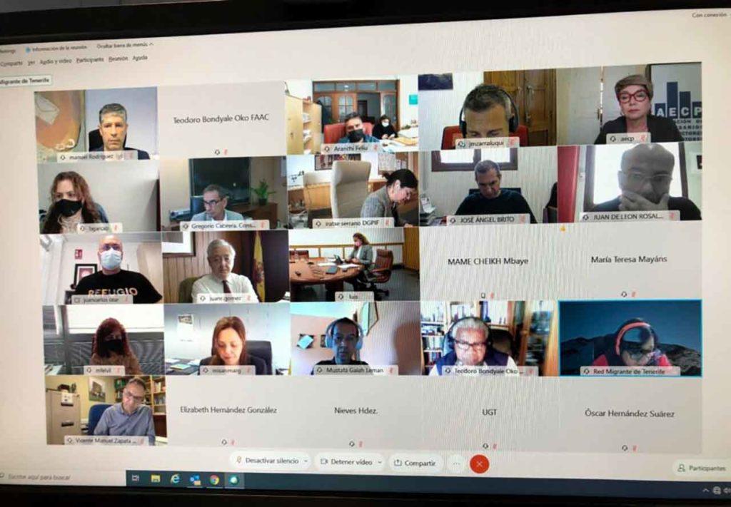 Reunión telemática del Foro Canario de Inmigración.