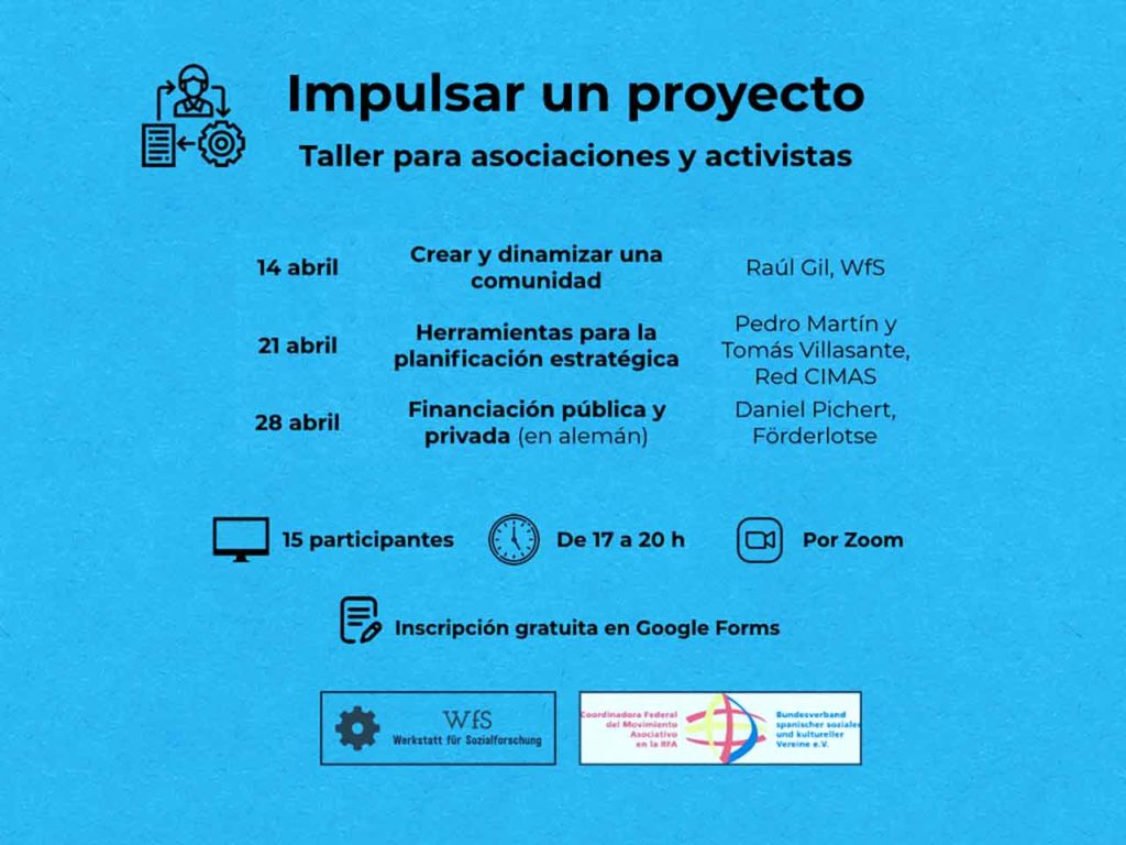 Cartel informativo del taller.
